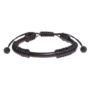 Bracelet Cuir Coton Bois tamarin