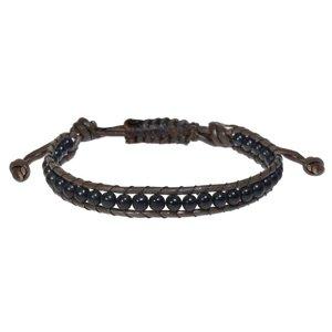 Bracelet Cuir Pierre synthétique Coton