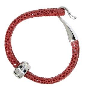 Bracelet Cuir Acier inoxydable Cristal Pelage Animal_Print Fourrure