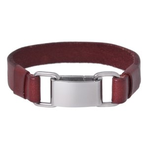 Bracelet Leather Stainless Steel