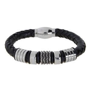 Bracelet Leather Stainless Steel PVC Tribal_pattern Stripes Grooves Rills