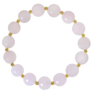 Bracelet Brass Rose quartz