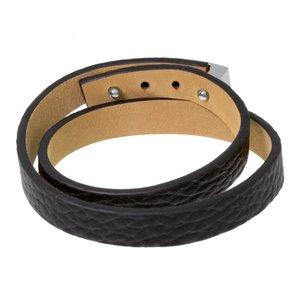 Bracelet Cuir Acier inoxydable Pelage Animal_Print Fourrure