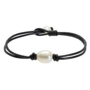 Bracelet enfants Cuir Perles d´eau douce