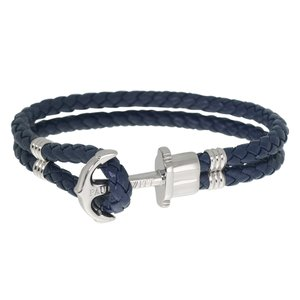 PAUL HEWITT Beach bracelet Leather Stainless Steel Anchor