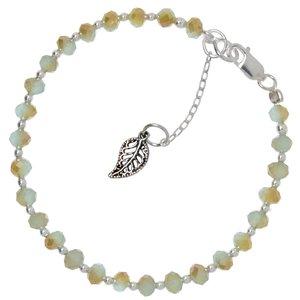 Kids bracelet Silver 925 Crystal Leaf Plant_pattern
