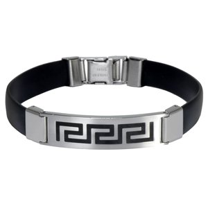 Bracelet Silicone Stainless Steel Tribal_pattern