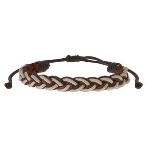 Geknüpftes Armband aus Leder mit Gewachste Leinen. Breite:9mm. Gewicht:2,5g. Länge verstellbar. Leder Gewachste Leinen