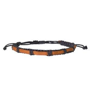 Geknüpftes Armband Leder