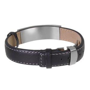 Bracelet Cuir Acier inoxydable Bandes Rayures Zébrure