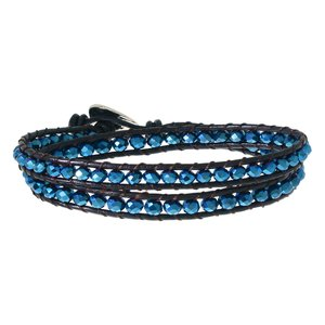 Lederarmband mit Synthetische Perle. Länge:17-18cm. Breite:6mm. Gewicht:8,0g. Länge verstellbar. Leder Leder Synthetische Perle