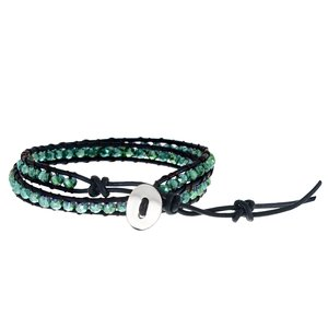 Bracelet Cuir Cuir Perle synthétique