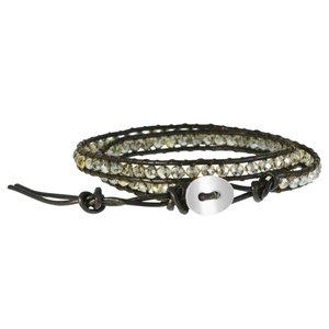 Bracelet Cuir Perle synthétique