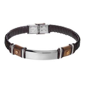 Bracelet Cuir Acier inoxydable Revêtement PVD (couleur or) PVC Éternel Dragonne Infini