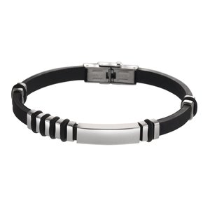Bracelet Silicone Stainless Steel PVC