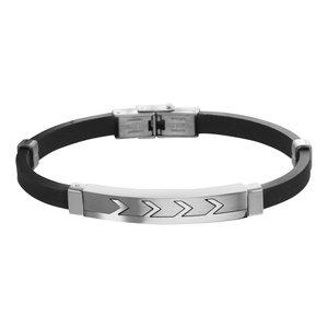 Armband Silikon Edelstahl