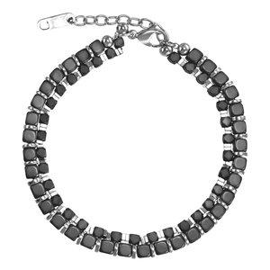 armband Staal Hematiet