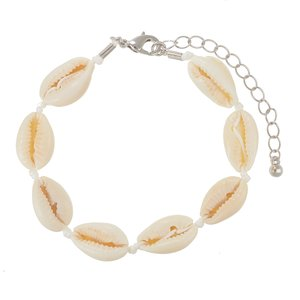 Bracelet Sea shell nylon Brass