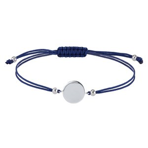 Geknüpftes Armband Silber 925 Nylon