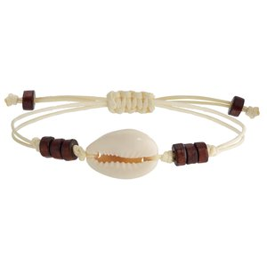 Bracelet Sea shell nylon Wood