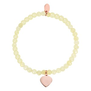 Bracelet Stainless Steel Gold-plated Natural stone Heart Love