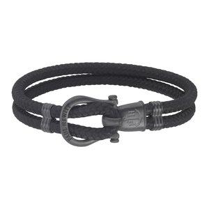 PAUL HEWITT Geknüpftes Armband Edelstahl PVD Beschichtung (schwarz) Nylon