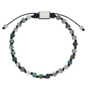 Bracelet Stainless Steel nylon Natural stone