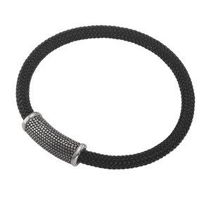 Geknüpftes Armband Edelstahl Kunststoff Ewig Schlaufe Endlos