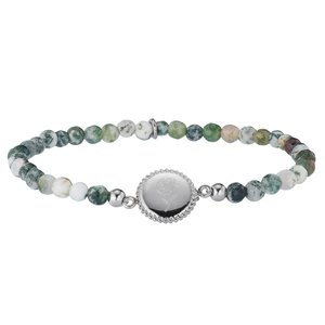 armband Staal Agaat roos