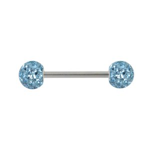 Nipple piercing Surgical Steel 316L Crystal Epoxy