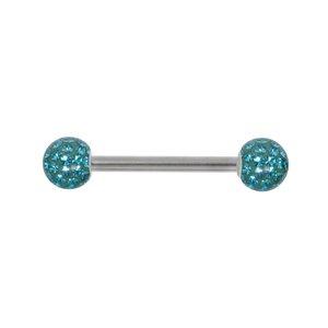 Piercing petto Metallo chirurgico 316L Cristallo Resina epossidica
