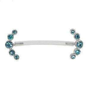 Nipple piercing Bioplast Silver 925 Crystal