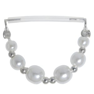Nipple piercing Silver 925 Bioplast Synthetic Pearls