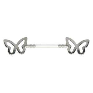 Piercing poitrine Acier chirurgical 316L Papillon