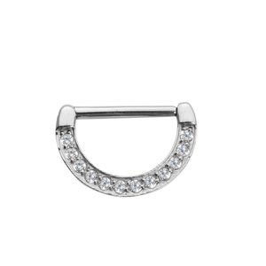 Nipple piercing Surgical Steel 316L zirconia