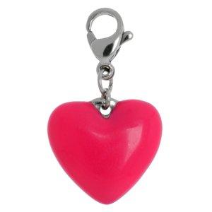 Charms pendentifs Acier inoxydable Émail Coeur C?ur Amour