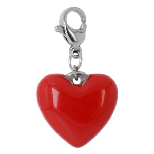 Charms pendants Stainless Steel Enamel Heart Love