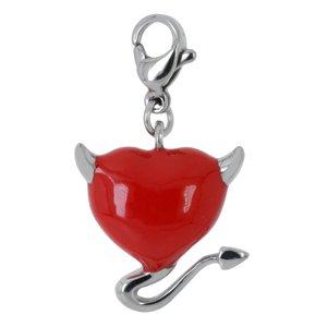 Charms pendentifs Acier inoxydable Émail Coeur_du_diable C?ur_du_diable Coeur_avec_cornes