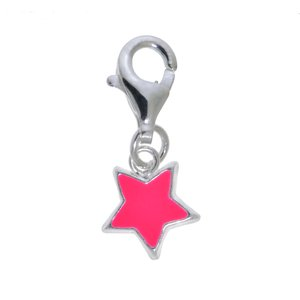 Kinder Charm Silber 925 Email Stern
