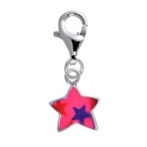 Charm niños Plata 925 Esmalte Estrella