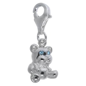 Kids charm Silver 925 Crystal Bear Teddy Teddy_bear