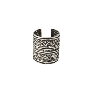 Ear clip Silver 925 Tribal_pattern Stripes Grooves Rills
