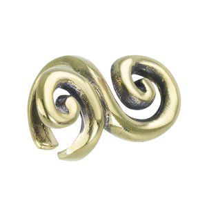 Ear clip Brass PVD-coating (gold color) Spiral