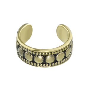 Ear clip Brass PVD-coating (gold color) Tribal_pattern