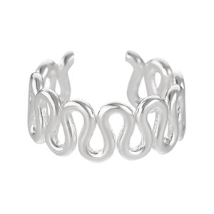 Ear clip Silver 925 Wave