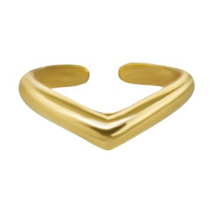 Ear clip Silver 925 PVD-coating (gold color)