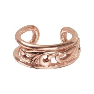 Clip orecchio Acciaio inox Rivestimento PVD (colore oro) Foglia Disegno_floreale