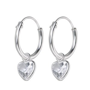 Kids earrings Silver 925 zirconia Heart Love