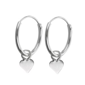 Kids earrings Silver 925 Heart Love