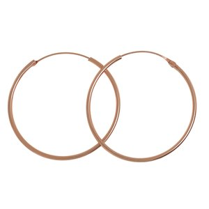 Hoops Silver 925 Gold-plated